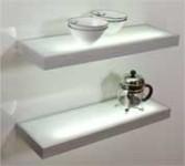 Aluminium glass shelf