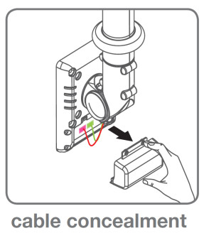 Cable Concealment For Hospital Monitor Arms