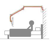 Adjustable Long Reach Hospital Monitor Arm