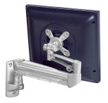 Ergonomic single wall mount gas monitor arm UK