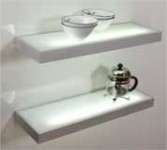 Aluminium glass shelf