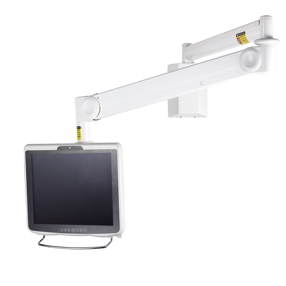 info g arm stand short pole w spring quick ceiling dm monitor release mount desk product id dual connect content